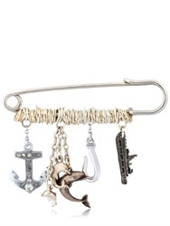 Maria Zureta Marine Sterling Silver Safety Pin