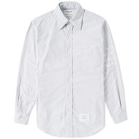 Thom Browne Hector Embroidered Arm Stripe Shirt Grey