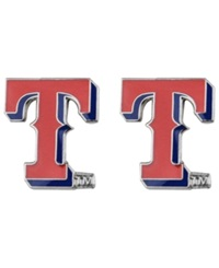 Aminco Texas Rangers Logo Post Earrings Team Color