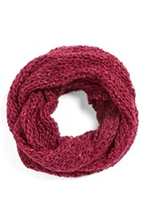 Women's Collection Xiix Glitter Fleck Infinity Scarf Pink Pink Berry