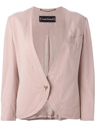 Louis Feraud Vintage Collarless Jacket Pink And Purple