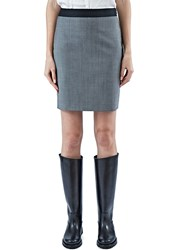 Lanvin Short Suiting Pencil Skirt Grey