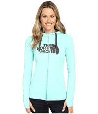 The North Face Fave Half Dome Full Zip Hoodie Ice Green Asphalt Grey Women's Sweatshirt Blue
