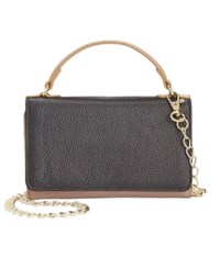 Giani Bernini Softy Leather Smartphone Wallet Crossbody Only At Macy's Black Sand Multi