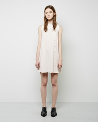Proenza Schouler Snap Front Flared Dress Off White