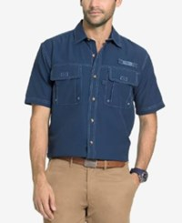 G.H. Bass And Co. Men's Performance Vented Short Sleeve Shirt Insignia Blue