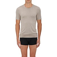 Zimmerli Men's Jersey Crewneck T Shirt Grey