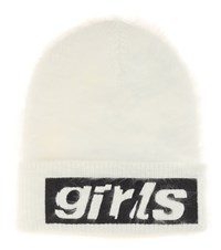 Alexander Wang Printed Angora Blend Hat White