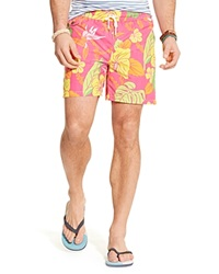 Ralph Lauren Traveler Floral Swim Shorts Pink Beach