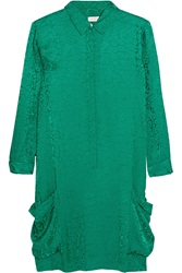 Matthew Williamson Satin Jacquard Shirt Dress