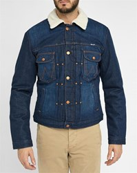 Wrangler Blue Denim Sherpa Jacket