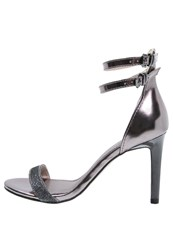 S.Oliver Happy Holiday Collection High Heeled Sandals Pewter Dark Blue