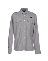 Blauer Denim Denim Shirts Men Grey