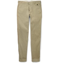 Michael Bastian Slim Fit Cotton Blend Trousers Neutrals