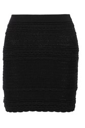 Etoile Isabel Marant Sola Crocheted Cotton Blend Mini Skirt Black
