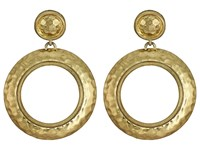 House Of Harlow The Titaness Hammered Statement Earrings Gold Earring