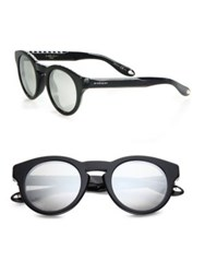 Givenchy 48Mm Rounded Studded Acetate Sunglasses Dark Havana Black