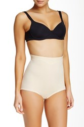 Joan Vass Mid Waist Control Brief Plus Size Available Beige