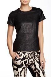 Muubaa Amador Crochet Lined Leather Top Black
