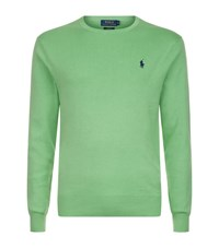 Polo Ralph Lauren Pima Cotton Crew Neck Sweater Male Green