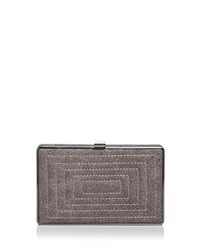 Sondra Roberts Quilted Embossed Stingray Clutch Taupe