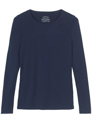 Fat Face Hollie Long Sleeve T Shirt Navy