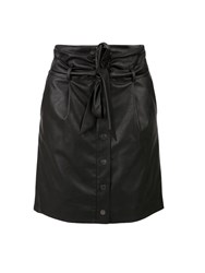 Morgan Faux Leather High Waisted Skirt Black