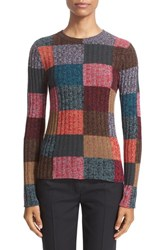 Valentino Women's Colorblock Wool And Cashmere Sweater