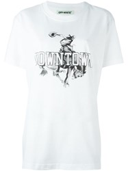 Off White 'Downtown' T Shirt White