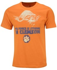 Tailgate Clothing Men's Clemson Tigers Yoda Force Is Strong T Shirt