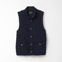 Save Khaki Quilted Reversible Vest Navy