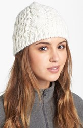 The North Face Women's 'Minna' Cable Knit Beanie White Vintage White
