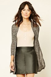 Forever 21 Marled Open Front Cardigan