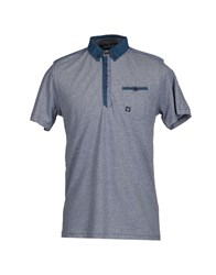 Duck And Cover Topwear Polo Shirts Men Slate Blue