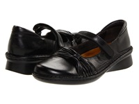 Naot Footwear Tone Black Madras Leather Black Gloss Leather Women's Maryjane Shoes