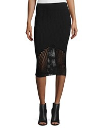 Opening Ceremony Netted Mesh Midi Skirt Black