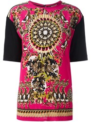 Roberto Cavalli Abstract Print T Shirt Pink And Purple