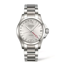 Longines Conquest Watch Unisex Silver