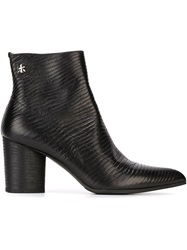 Premiata Textured Leather Ankle Boots Black