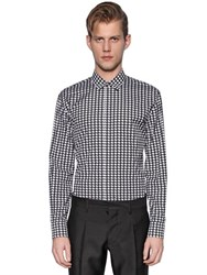 Dsquared Macro Houndstooth Cotton Poplin Shirt