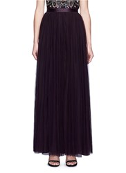 Needle And Thread Tulle Maxi Skirt Purple