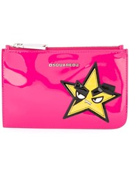 Dsquared2 Punk Star Purse Pink And Purple