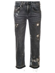 R 13 R13 Straight Cropped Jeans Grey