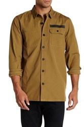 Tavik Fletcher Long Sleeve Peached Canvas Shirt Jacket Brown