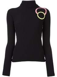 Emporio Armani Applique Circle Jumper Black