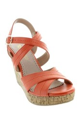 Restricted Rattle Open Toe Wedge Pink