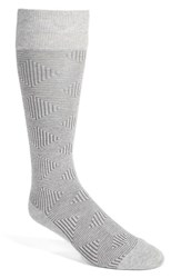 Calibrate Men's 'Plaited Maze' Socks Light Heather Grey
