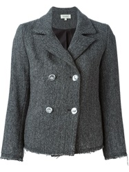 Isa Arfen Harris Tweed Jacket Grey