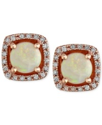 Effy Collection Gemma By Effy Opal 3 4 Ct. T.W. And Diamond 1 8 Ct. T.W. Stud Earrings In 14K Rose Gold