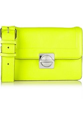 Marc By Marc Jacobs Top Schooly Neon Grained Leather Shoulder Bag Yellow